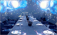 Holographic theme restaurant